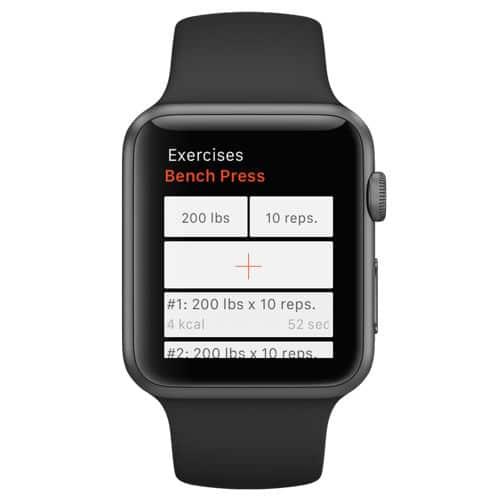 So kannst du auf der Apple Watch die Wiederholungen und Gewichte eintragen