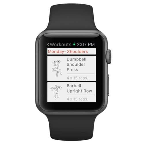 Auch auf der Apple Watch kannst du die Übungen auswählen