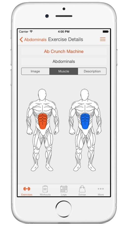 Siehe dir an welche Muskeln trainiert werden