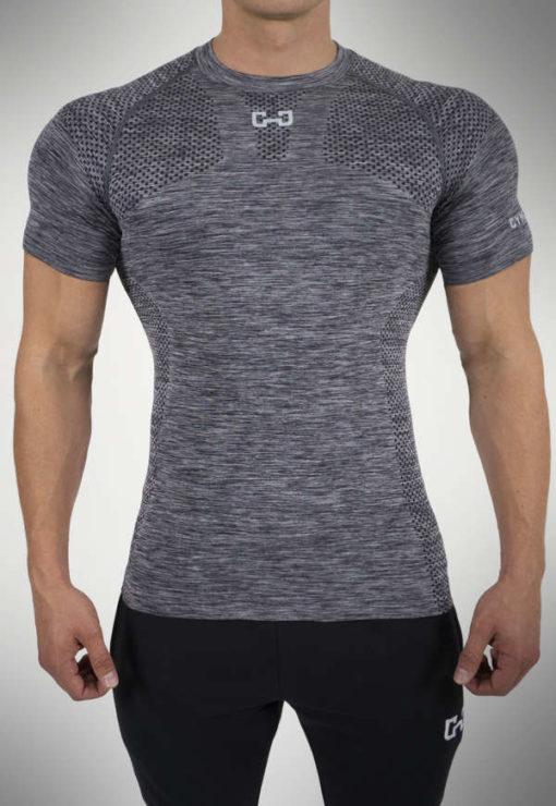 GymJunkie T-Shirt Männer Seamless Grau