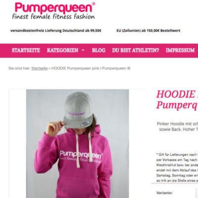 Pumperqueen ist ein kleiner Independent Gym Wear Shop aus Deutschland