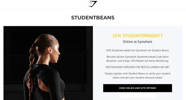 Gymshark Rabatt für Studenten